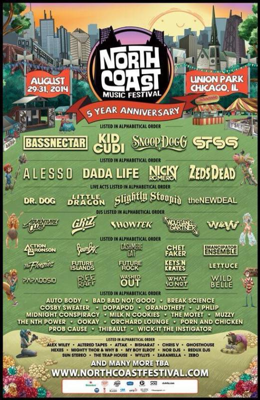 North Coast 2014 Llineup