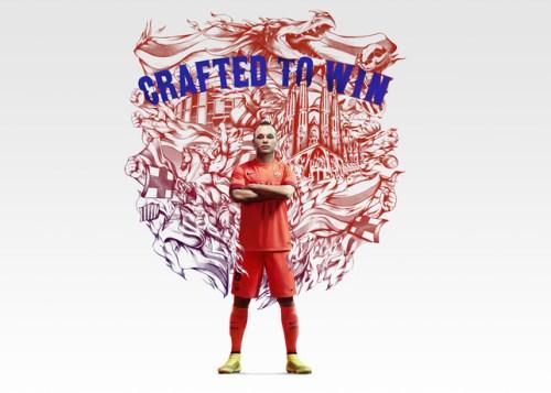 FC Barcelona 2014-15 Away Kit Iniesta