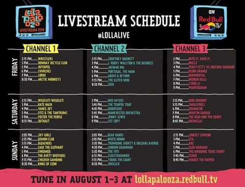Lolla 2014 LiveStream