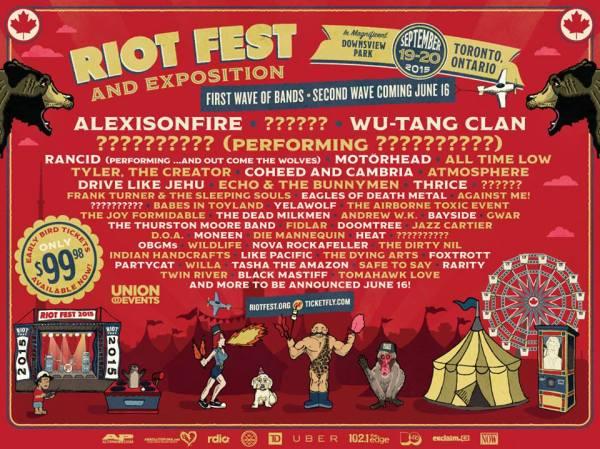 Riot Fest 2015 Toronto