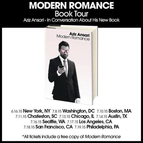 Aziz Ansari Book Tour 2015