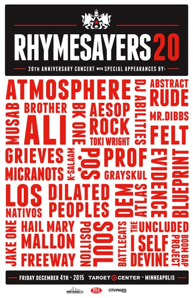 Rhymesayers 20th Anniversary