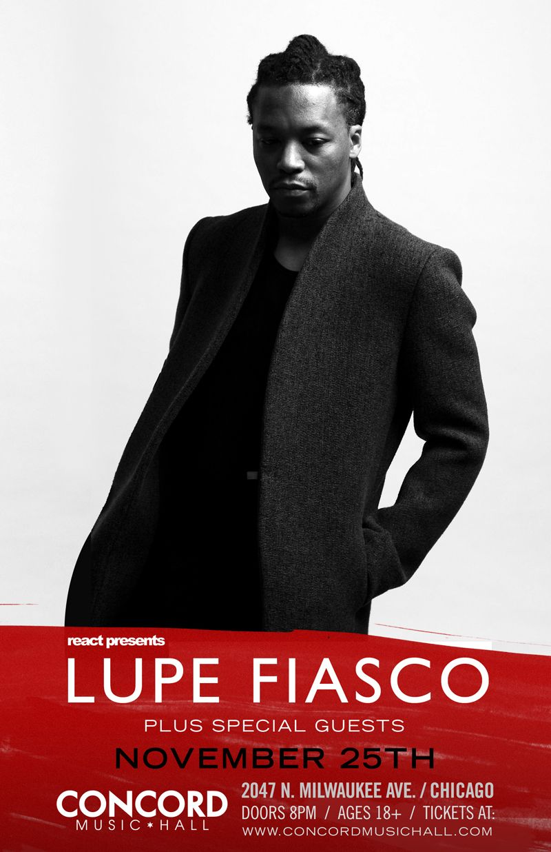 Pod giveaway lupe fiasco live at concord music hall on 1125 lupe fiasco concord music hall m4hsunfo