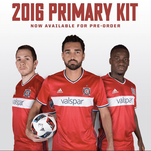 Chicago Fire 2016 Primary Kit