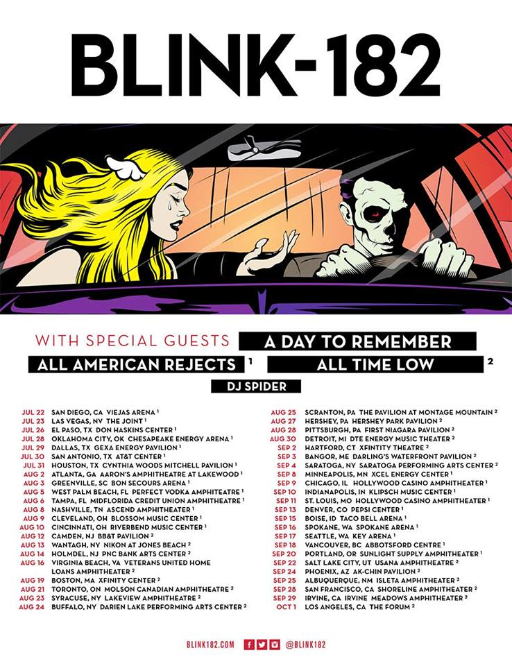 Blink-182 2016 Tour