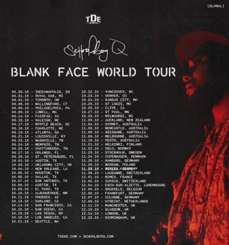 ScHoolboy Blank Face World Tour