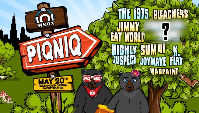 101WKQX's 2017 PIQNIQ Festival Lineup Announced feat. The 1975, Bleachers, Jimmy Eat World, Highly Suspect
