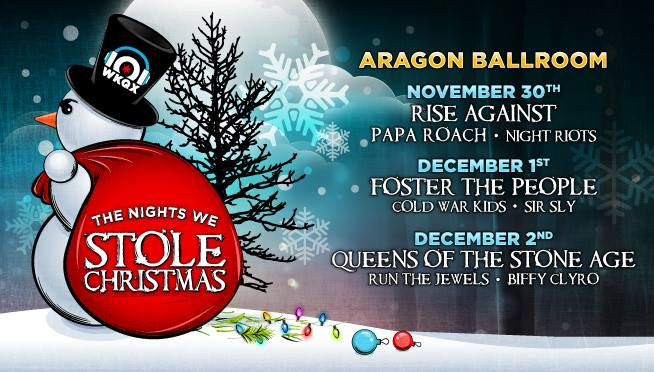 101WKQX Announces The Nights We Stole Christmas Lineup feat. Queens Of The Stone Age, Rise Against, Run The Jewels