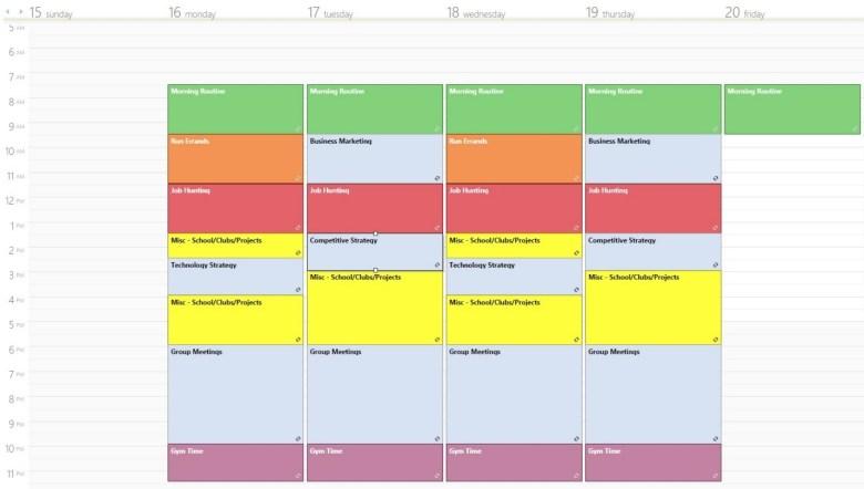 Grad Schedule