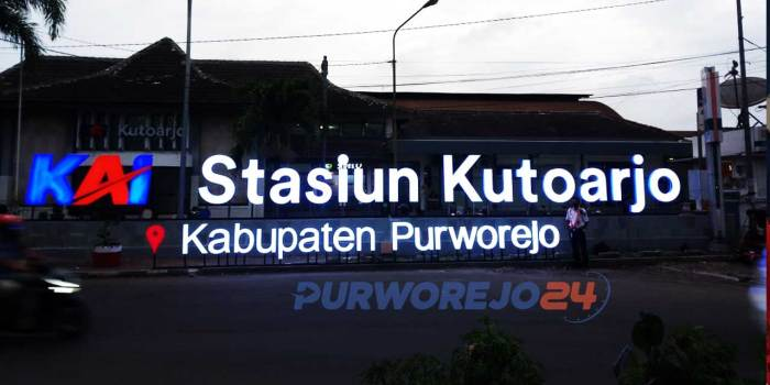 Wajah baru Stasiun Kutoarjo