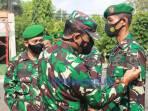 Dandim 0708 Purworejo, Letkol Infanteri Lukman Hakim memimpin upacara kenaikan pangkat di lapangan apel Makodim, Jumat (01/10/2021).