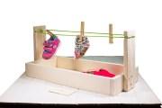 Giocattolo Montessori Stendino da tavolo