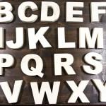 Alfabeto di legno 26 lettere