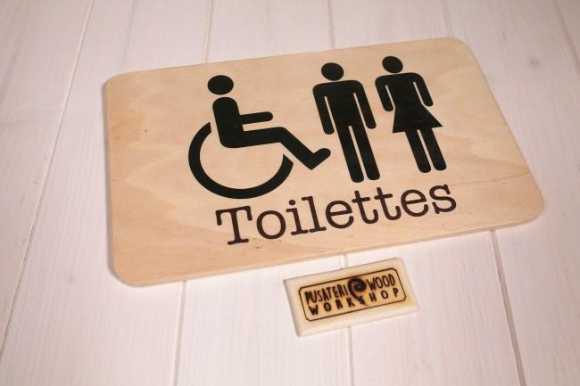 Insegne di legno - Toilettes