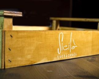 Vassoio in stile cassettina della frutta Ciaculli