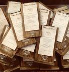 Portamenu di legno con pinza