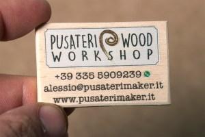 Wooden Business Card - Pusateri Maker