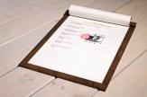 Addaura portamenu di legno A4 con cornice