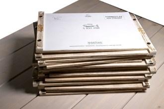 Portamenu di legno A4 orizzontale Zisa