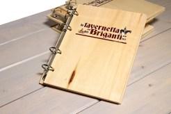 Papireto portamenu con buste a5 in legno