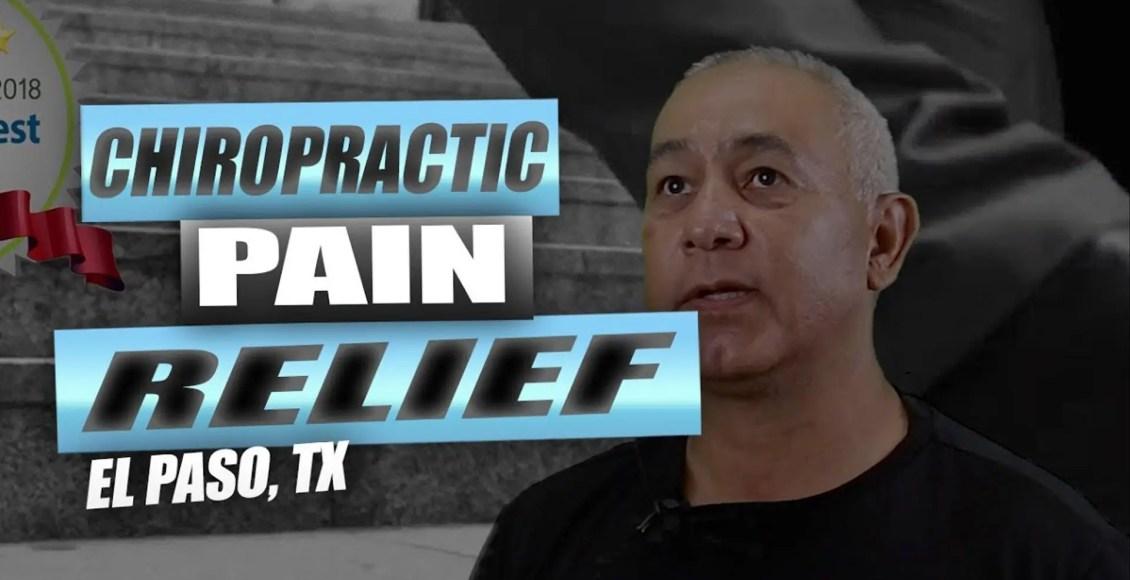 chiropractic pain relief el paso tx.