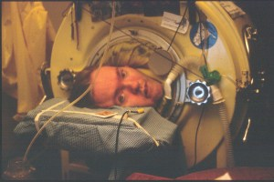 Mark O'Brien in his iron lung