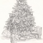 Christmas Tree Illustration by Walter Hayn