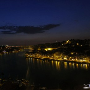 Night view from the Dom Luís Bridge