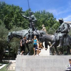 Don Quijote and Sancho Panza - Plaza Espanya