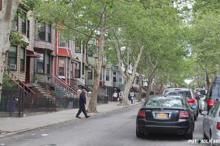 Naša ulica u Brooklyn gdje smo bili smješteni u stanu