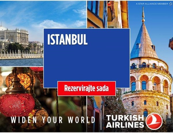 Turkish Airlines Akcija – povratne aviokarte za Istanbul već od 110€