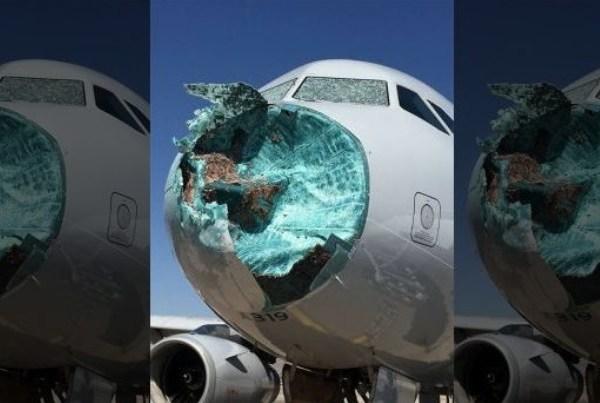 Tuča uništila nos aviona American Airlinesa
