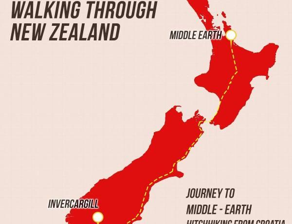 1500 km pješaćenja po Novom Zelandu by Tomica