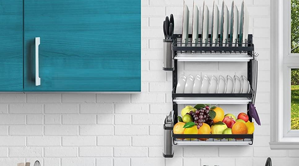 best wall mounted dish drying racks