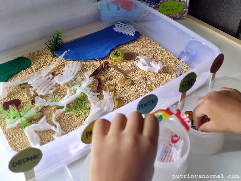 MONTESSORI AT HOME: Ide Kegiatan Belajar Tentang Sampah