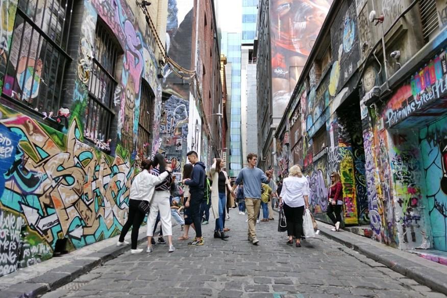 Mengintip Melbourne Street Art di Hosier Lane