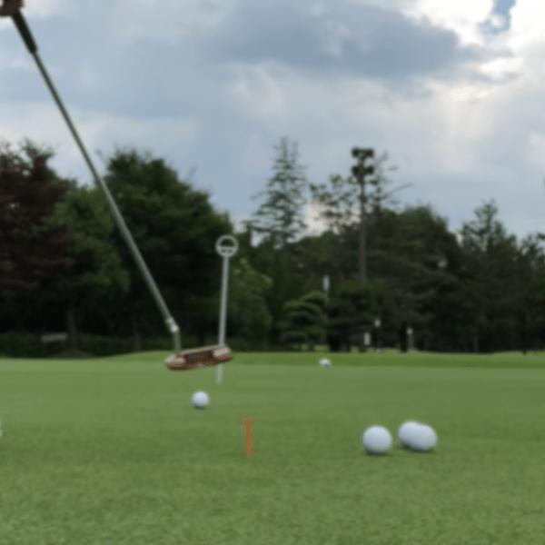 ラウンド前のパター練習