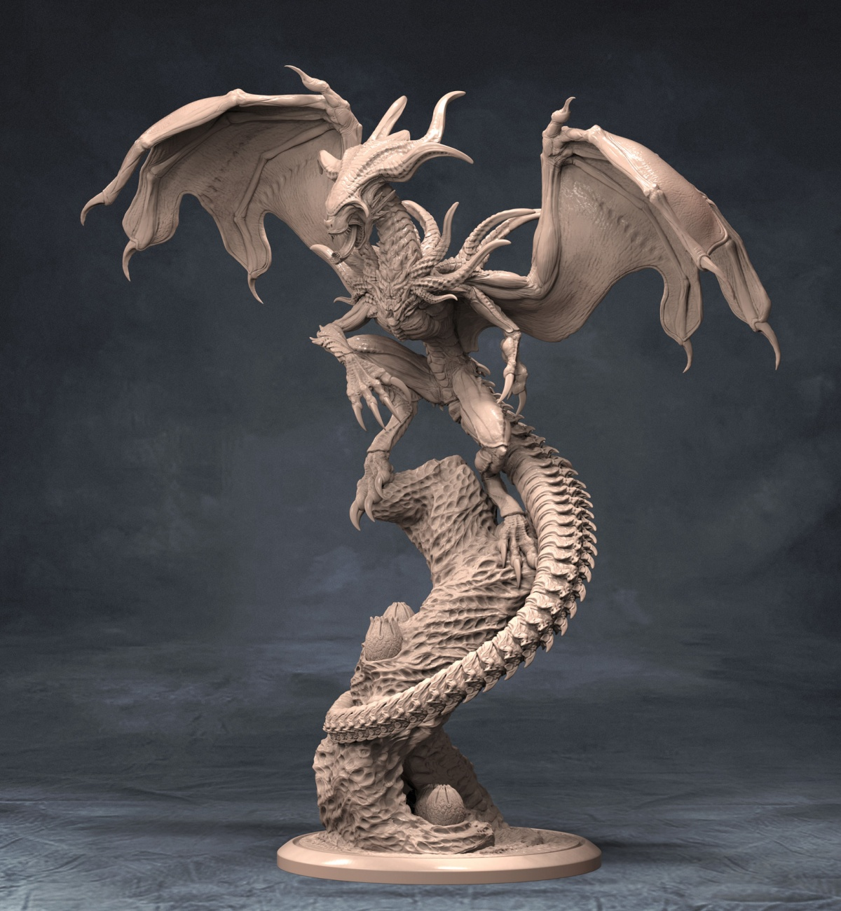 Xenomorph Dragon Sculpture By Old PuttyampPaint