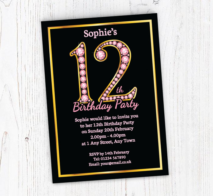 11th 12th 13th 14th Disco Birthday Party Invitations Boys Spotty Polkadot X 50 Home Furniture Diy Cards Stationery Redhot Cl