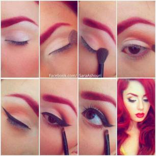 Smokey-pin-up-makeup
