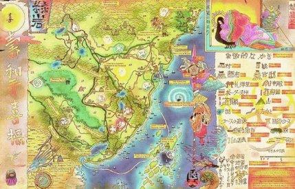 Mapas do RPG - Legends of The Five Rings inspirados no Oriente