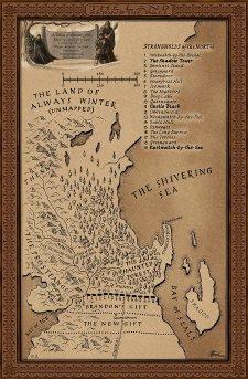 Mapa das Cronicas de Fogo e Gelo