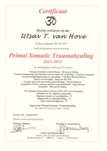 Certificaat Primal Somatic Traumahealing