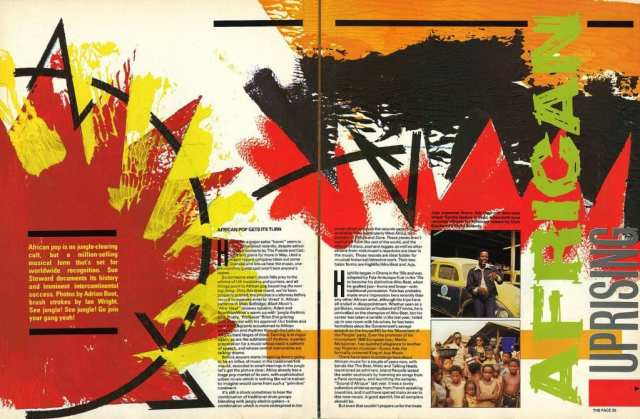 A spread from The Face, No 25, May 1982 - Designed by Neville Brody