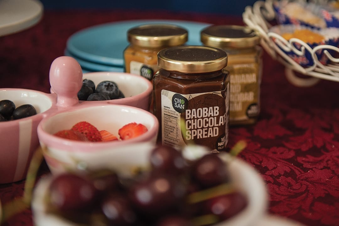 Chosan Chocolate Baobab Chocolate spread; Packaging by Puur