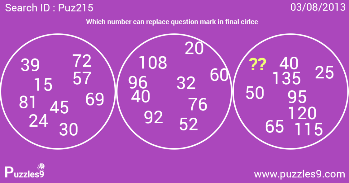 Find solution for this maths puzzle   puz215 : daily puzzles with answers