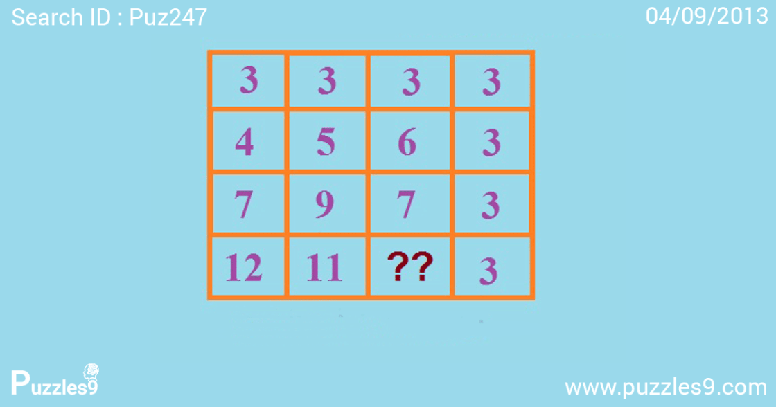 find missing number in aptitude puzzle : missing number puzzles - puzzles9 | puz247