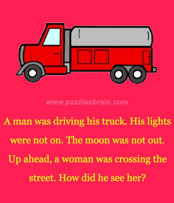 man-driving-truck-woman-crossing-street-riddle