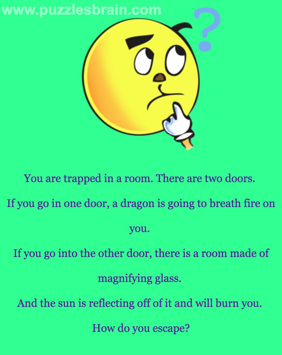 Trapped Room Doors Dragon Sun Glass Riddle Brain Puzzles