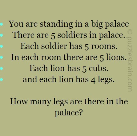 How Many Legs are in the Palace ?